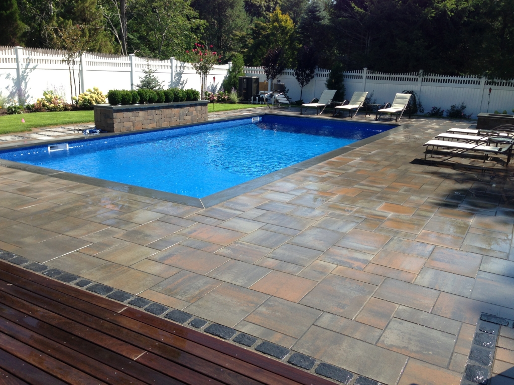 Inground swimming pool design installation topaz for Images of inground swimming pools